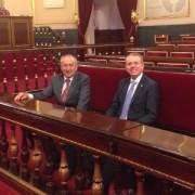 Los senadores Álvarez y Altava en el Senado