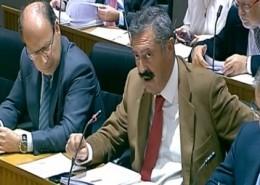 Vicente Ferrer (centro) durante su intervención en la Comisión de Defensa