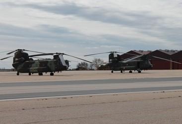 Helicópteros Chinook. Foto: Verónica Sánchez.