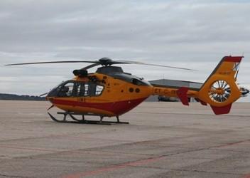 Helicóptero del Batallón de Emergencias. Foto: Verónica Sánchez.