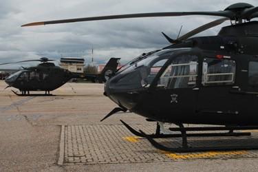 Helicópteros de enseñanza HE-26. Foto: Verónica Sánchez.