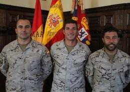 Sargento Lucena, Capitán Andreu y Cabo primero Asencio