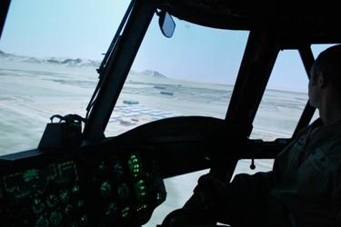 Interior del simulador de Chinook. Foto: Verónica Sánchez