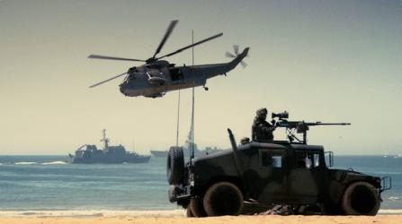 Ejercicio con la Infantería de Marina