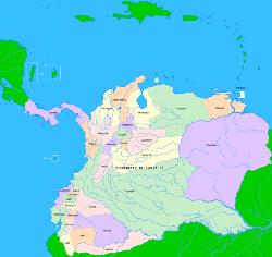 Virreinato de Nueva Granada en 1717