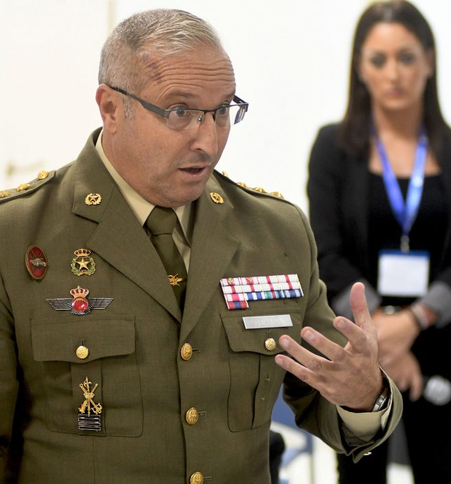 Coronel ilmo. D. Carlos Salgado, jefe de Operaciones de la FUTER.
