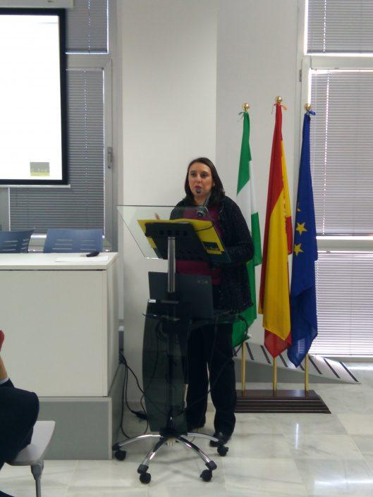 """Ponencia """"Seguridad tecnológica"""", a cargo de Dña. Silvia de los Santos, de CTA."""
