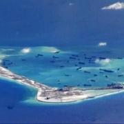 Construccion de una isla artificial china
