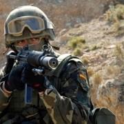 Soldado español durante el ejercicio Trident Jucture 2015
