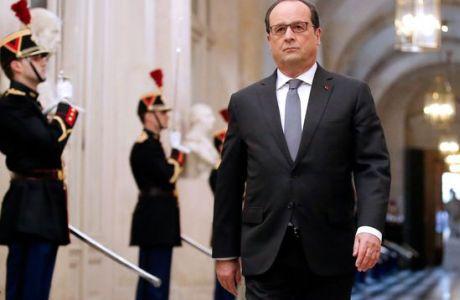 François Hollande llega al Palacio de Versalles