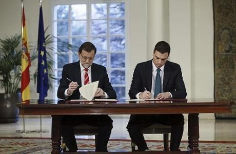Rajoy y Sánchez firman el pacto antiyihadista
