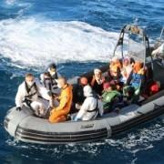 Rescate de migrantes por la fragata Canarias