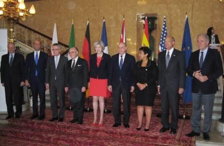 Asistentes a la reunión del G6 en Londres