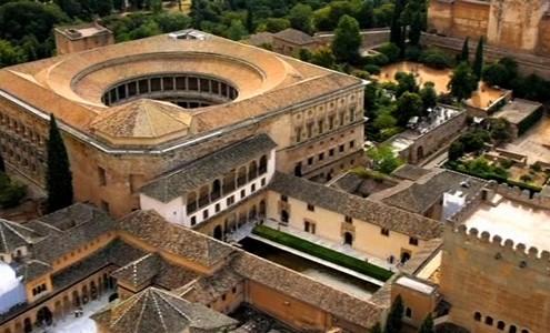 Vista aérea de La Alhambra de Granada