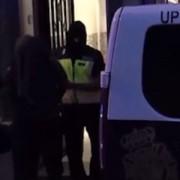 Imagen oficial de la Policía Nacional de la detención