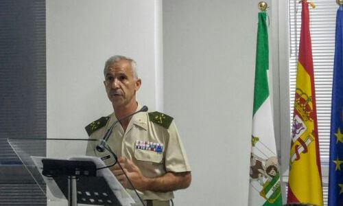 El General de División y Comandante del Mando Conjunto de Operaciones Especiales, Don Jaime Iñiguez Andrade