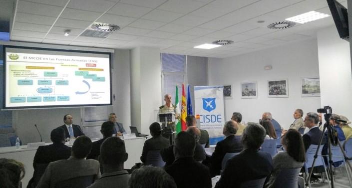 Comandante del Mando Conjunto de Operaciones Especiales, Don Jaime Iñiguez Andrade. Sala de Exposiciones, CISDE, Sevilla