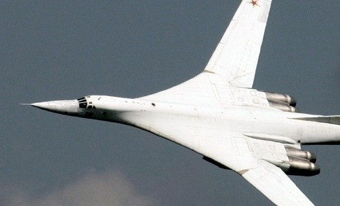 Imagen de un avión tipo Tupolev-160