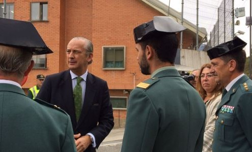 El Director General visitaba al guardia civil agredido