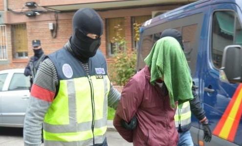 Momento de la detención. Imagen oficial del Ministerio del Interior