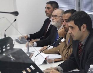 Guillem Colom, a la derecha, durante el IV Seminario Internacional sobre Problemas Emergentes en Seguridad organizado por CISDE.