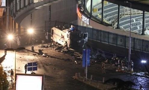 Imagen de los alrededores del Estadio tras la explosión