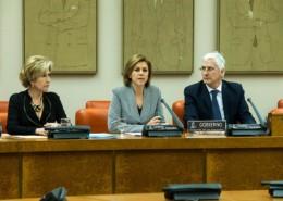 Imagen oficial del Ministerio de Defensa, la Ministra de Defensa en la Comisión
