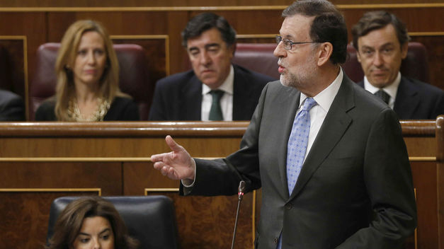 Mariano Rajoy, en un discurso en el Congreso