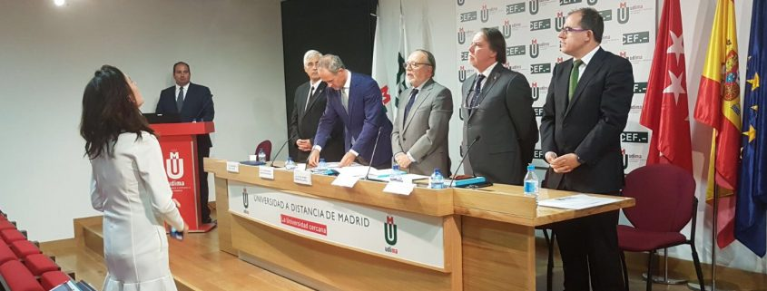 Defensa Tesis doctoral de Carlos González de Escalada, presidente de CISDE.
