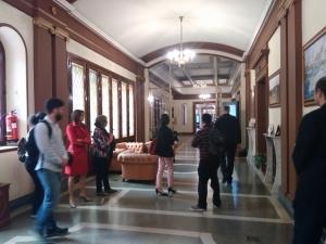 Durante la visita al CESEDEN.