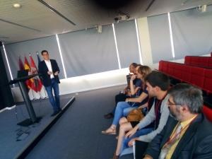 Durante la primera conferencia de INCIBE.